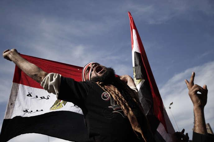 Manifestation contre l'autoritarisme militaire, sur la place Tahrir au Caire (Egypte), le 10 février 2012.