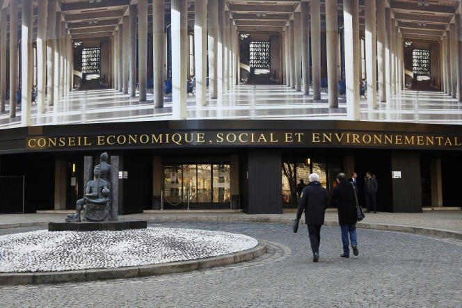 Le Conseil économique, social et environnemental siège au Palais d'Iéna, dans l'ouest de Paris.