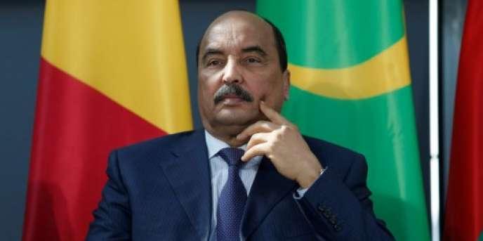 Le président mauritanien Mohamed Ould Abdel Aziz, à Paris, le 13 avril 2017.