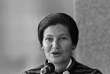 (FILES) This file photo taken on September 16, 1976 in Paris shows French Minister for Health Simone Veil giving a speech about the campaign she launched against Tobacco. French abortion pioneer Simone Veil died aged 89 announced her family on June 30, 2017.