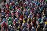 Le pelonton lors de la 5e étape du Tour de France entre Vittel et la planche des Belles-Filles, le 5 juillet. REUTERS/Benoit Tessier