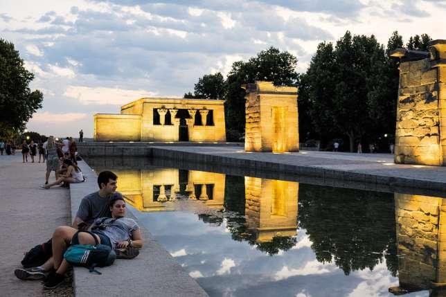 Le temple de Debod, cadeau de l'Egypte à l'Espagne.