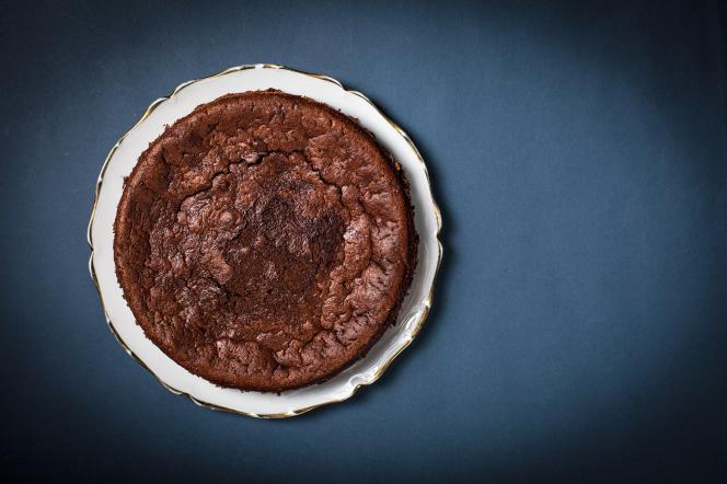 Gâteau chocolat-courgette par Julien Boisselier.