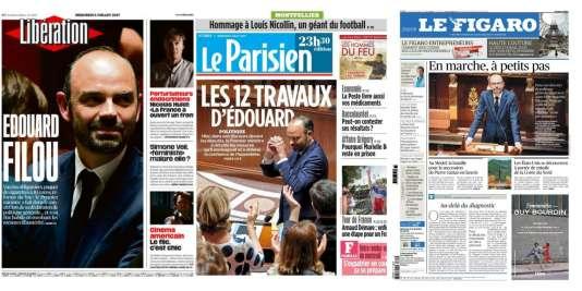 Les «une» de Libération, du Parisien et du Figaro, datées du 5 juillet.