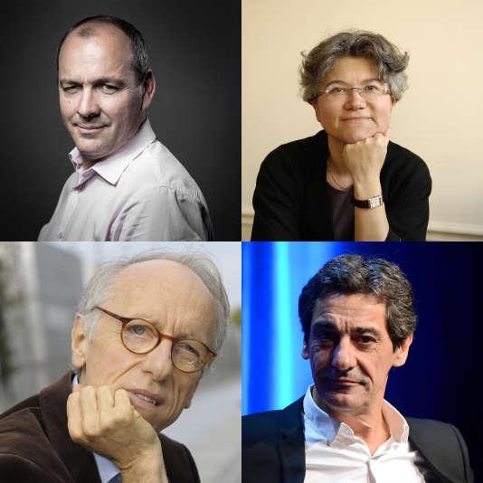 En haut à gauche, Laurent Berger, en haut à droite Dominique Méda, en bas à gauche Pierre Musso, en bas à droite, Serges Papin.