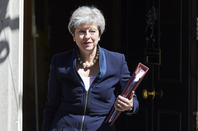 Theresa May, la première ministre britannique, à Londres le 5 juillet 2017.