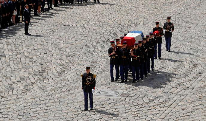 Pendant l'hommage national à Simone Veil, à Paris, le 5 juillet.