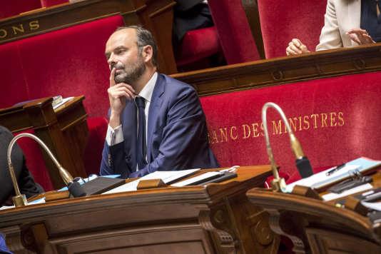 Edouard Philippe, Premier ministre, à l'Assemblée nationale, à Paris, mardi 4 juillet 2017.