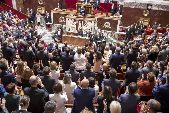 Lors du discours de politique générale d'Edouard Philippe, le 4 juillet, à l'Assemblée nationale.
