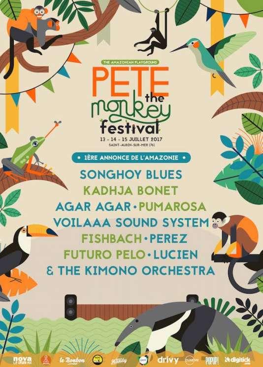 Le festival Pete The Monkey, du 13 au 15 juillet, àSaint-Aubin-sur-Mer (Seine-Maritime).