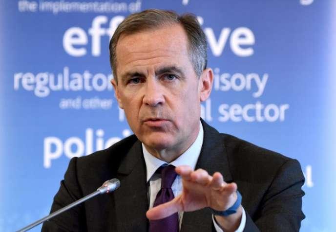 Mark Carney, président duFinancial Stability Board, l'instance chargée par le G20 de superviser les risques financiers, et gouverneur de la Banque d'Angleterre, en mars 2016, à Tokyo.