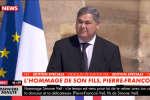 L'hommage de Pierre-François Veil à sa mère, Simone Veil, mardi 5 juillet, dans la cour des Invalides.