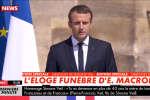 Emmanuel Macron rend hommage à Simone Veil, dans la cour d'honneur des Invalides, mercredi 5 juillet.