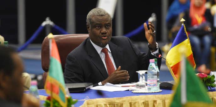 Le Tchadien Moussa Faki Mahamat, président de l'Union africaine.