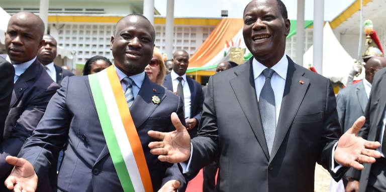Le président de l'Assemblée nationale Guillaume Soro et le président ivoirien Alassane Ouattara en octobre 2016 à Abidjan.