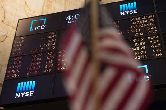 «L'encours mondial des ETF, qui a doublé en quatre ans, approche désormais les 4000milliards de dollars! » (Photo: Bourse de New York, le 8 juin).