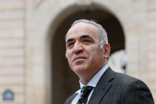 L'ancien champion du monde Garry Kasparov, à Paris, le 24 mars 2017.