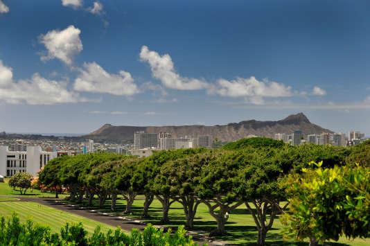 C'est sur Oahu, l'île la plus peuplée de l'archipel d'Hawaï, que le soldat a été arrêté.