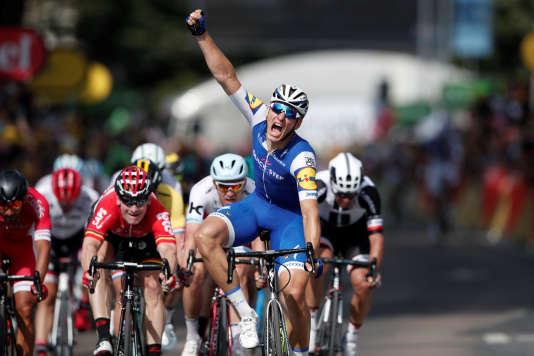 Marcel Kittel exulte après sa victoire lors de la 6e étape, le 6 juillet.