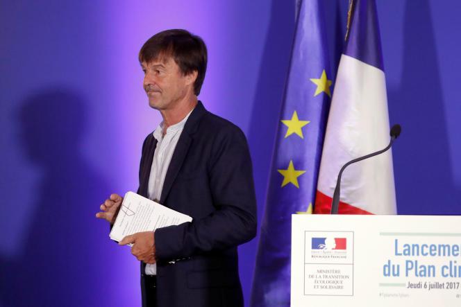 Nicolas Hulot, à Paris, le 6 juillet.