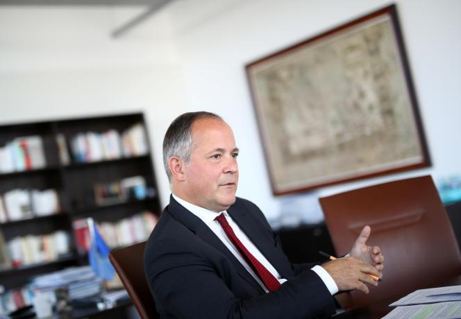 Benoît Cœuré, membre du directoire de la Banque centrale européenne, le 17 mai, à Francfort.