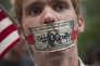 Un membre du mouvement Occupy Wall Street, enoctobre 2011, à New York.
