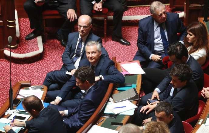 Bruno Le Maire, ministre de l'économie, au Sénat, jeudi 6 juillet.