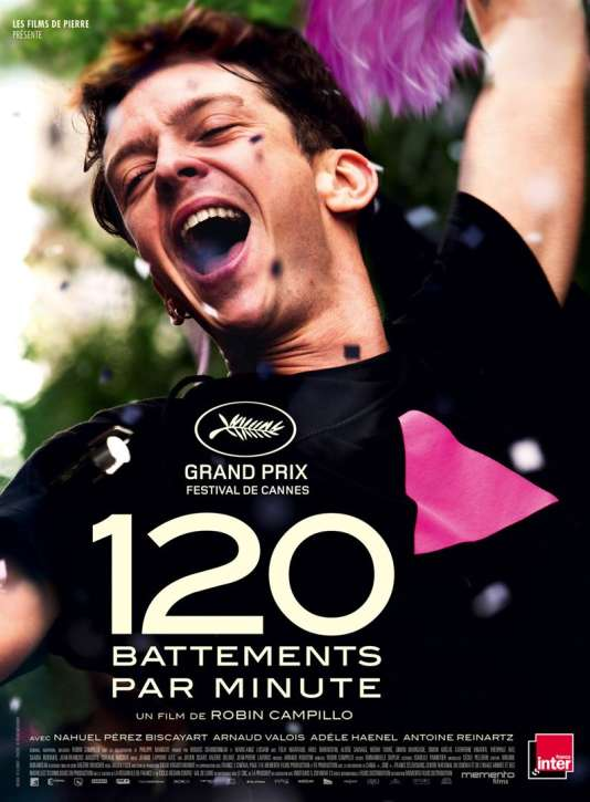 Affiche du film « 120 battements par minute ».