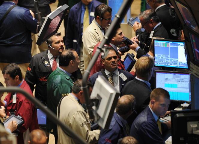 A la Bourse de New York, le 16 septembre 2008, le lendemain de la faillite de Lehman Brothers.