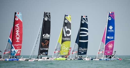 34 bateaux étaient au départ de la première étape du Tour de France à la voile le 7 juillet à Dunkerque.