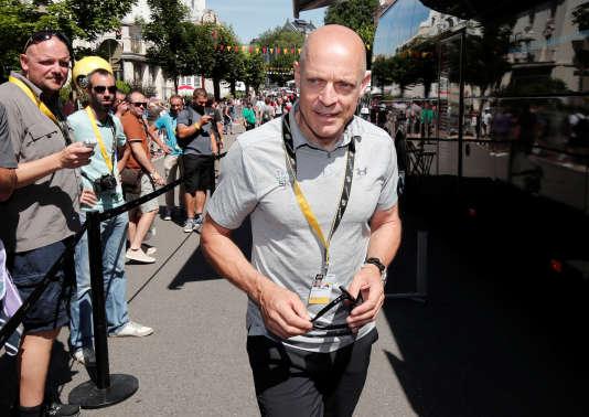 Dave Brailsford lors de la 5e étape du Tour de France, le 5 juillet. REUTERS/Benoit Tessier