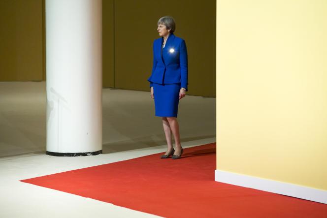 La première ministre britannique Theresa May, lors du sommet du G20 à Hambourg (Allemagne), le 7 juillet.