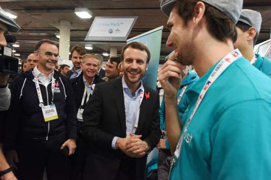 Emmanuel Macron, alors ministre de l'économie, le 7 janvier 2016 à Las Vegas.