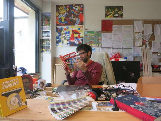 Simon Liberman cofondateur des Editions 2024, à Strasbourg