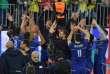 L'équipe de France de volley-ball célèbre sa victoire en finale de la Ligue mondiale face au Brésil, le 8 juillet.