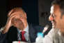 Jean-Hervé Lorenzi, le président du Cercle des économistes, et le navigateur Franck Cammas, aux Rencontres économiques d'Aix-en-Provence, le 7 juillet.