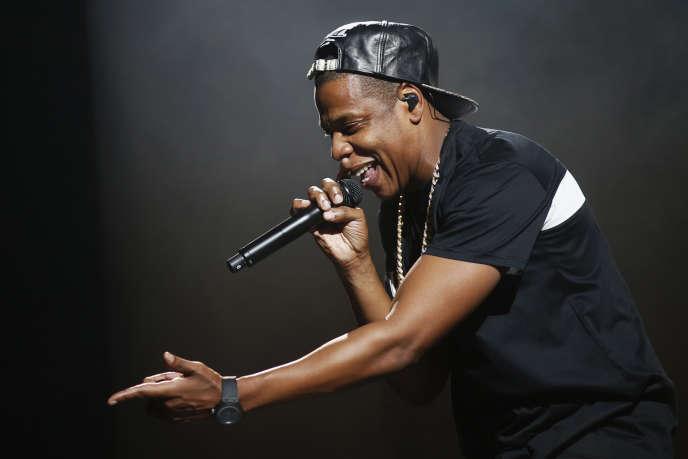 Le rappeur américain Jay-Z lors de son concert donné à Paris, le 17 octobre 2013.