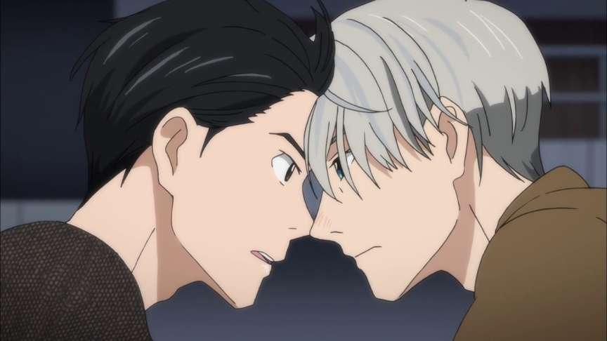 Yuri et Victor, les deux personnages principaux de« Yuri on Ice».