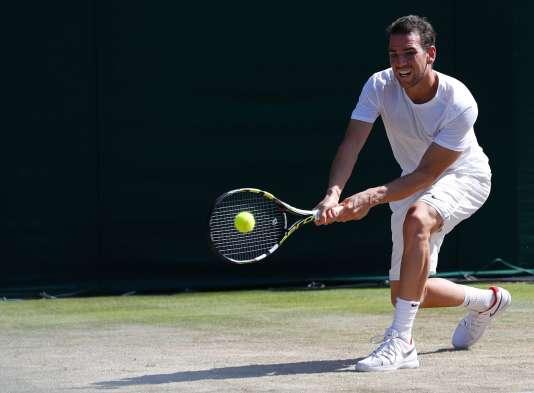Le Français Adrian Mannarino a battu Gael Monfils au 3e tour de Wimbledon.