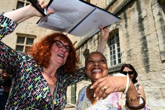 Anne-Laure Liegeois et Christiane Taubira, le 8 juillet à Avignon.