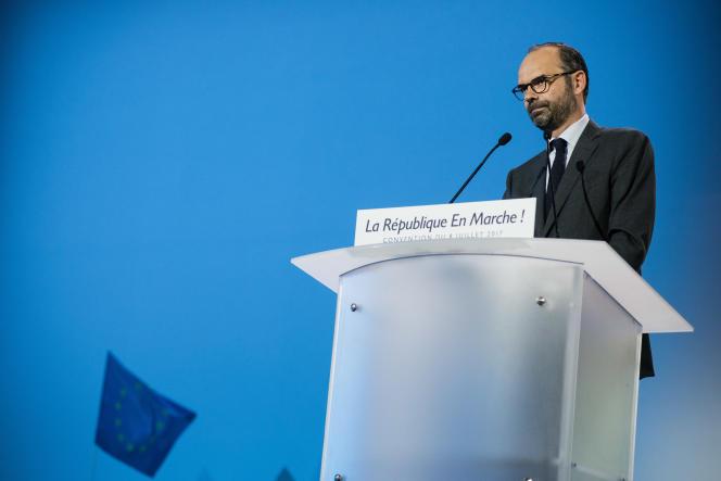 Edouard Philippe s'est exprimé samedi devant les militants de la République en marche.