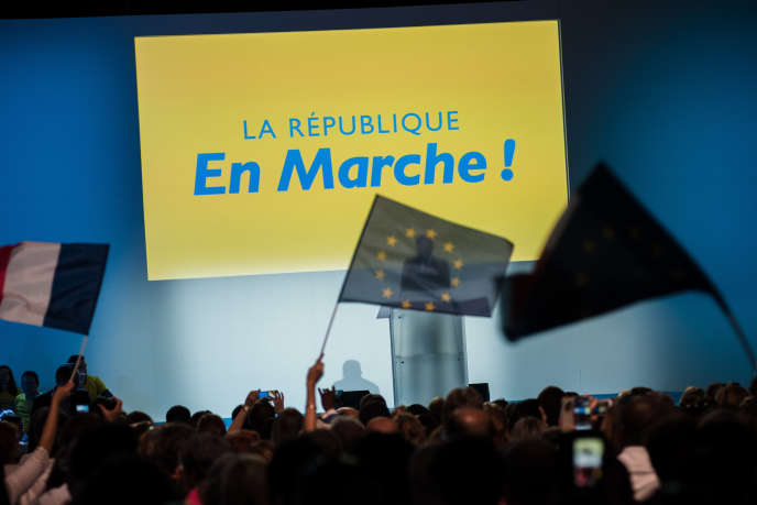 Convention de La République en marche au Paris Event Center à la Villette, le 8 juillet.