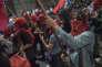Manifestation appelant à la démission du président brésilien Michel Temer, à Rio, le 30juin.