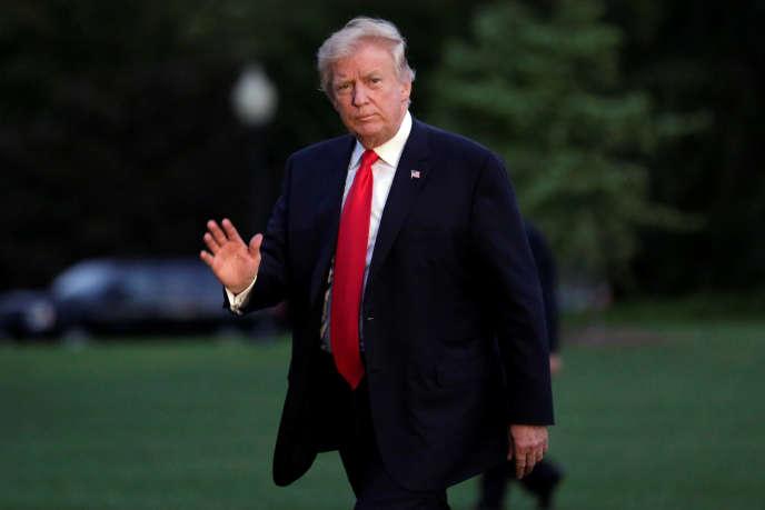 Donald Trump le 8 juillet à la Maison Blanche.
