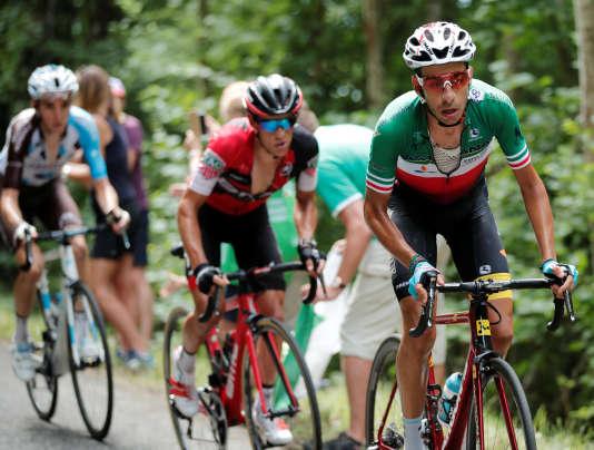 Fabio Aru lors de la 9e étape du Tour de France entre Nantua et Chambéry, le 9 juillet. REUTERS/Benoit Tessier