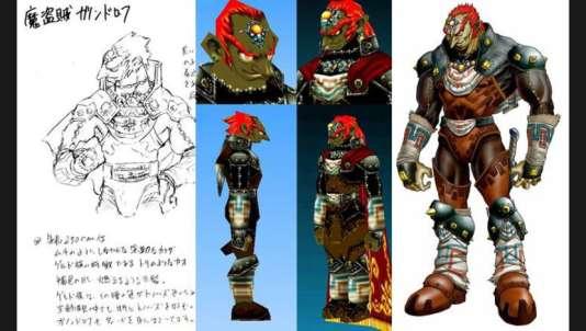 Les illustrations officielles de Ganondorf sont bien plus détaillées que le personnage en 3D, modélisé sommairement.