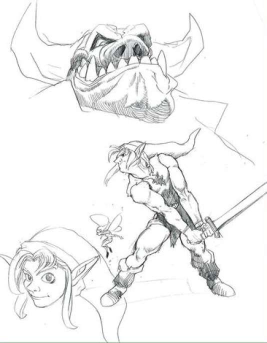 Pour Ocarina of Time, la première piste était un Link bien plus musculeux.