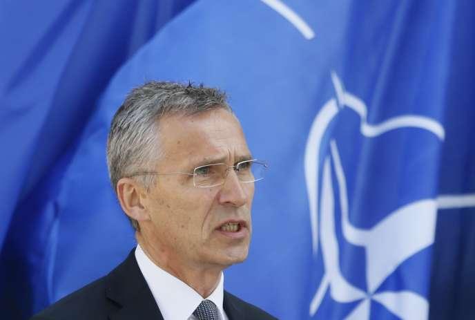 Le secrétaire général de l'OTAN, Jens Stoltenberg, à Kiev, le10 juillet.