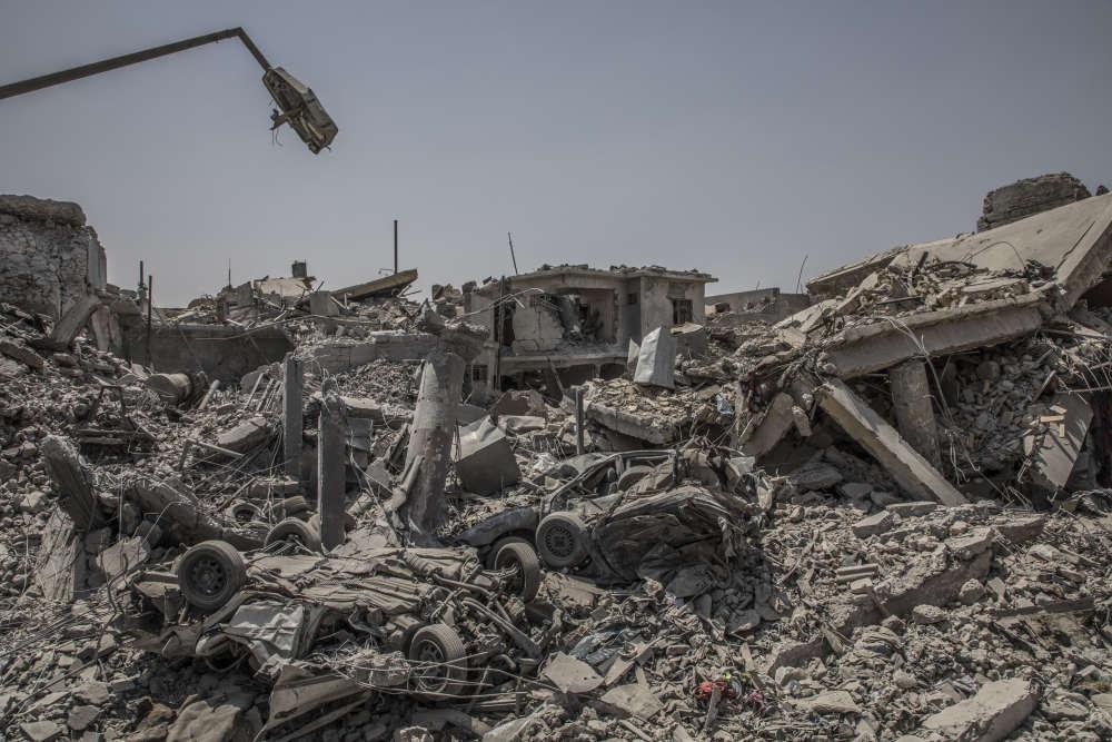 Entre les combats de rue et le soutien aérien, la ville de Mossoul à énormement souffert.