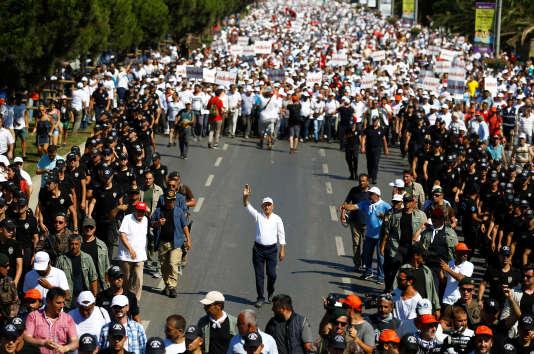 Kemal Kiliçdaroglu, chef de l'opposition à Recep Tayyip Erdogan et leader du Parti républicain du peuple (CHP), à Istanbul le 8 juillet.